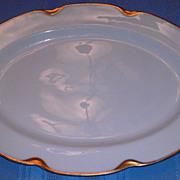 "11"" Serving Platter Haviland Limoges Silver Anniversary Pattern Schleiger 19"