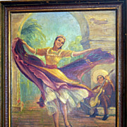 A Dance of Mexico by listed California Artist Tess Razalle Carter