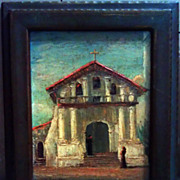 Mission San Francisco de Asis Oil on Canvass Board By Tess Razalle Carter