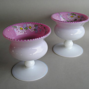 Pair of Artist Signed Pairpoint Peachblow Vases
