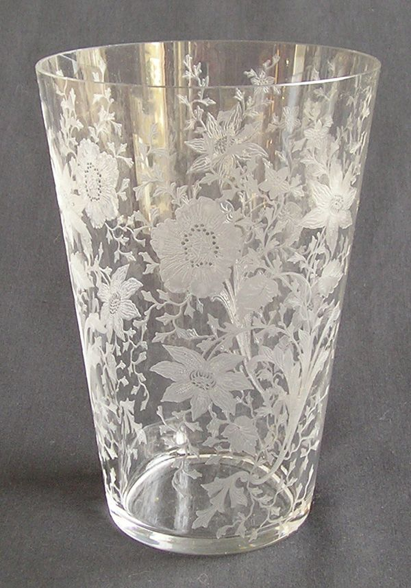 "Cambridge Glass ""Wildflower"" Flip Vase"