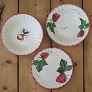 3 Pieces of Blue Ridge Dinnerware