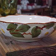 Vintage Hand Painted Stangl White Dogwood Lugged Soup Bowl