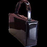 Vintage Crown Lewis Black Patent Purse