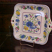 Mason's Ironstone Square Cake Plate Made for Carl Forslund Co.