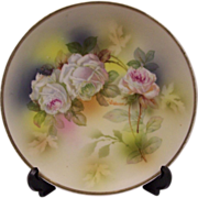 Beautiful Roses Artist Signed German Plate