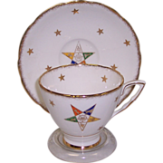 Royal Stafford Order of Eastern Star Cup & Saucer