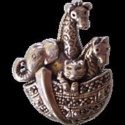 Sterling Silver & Marcasite Noah's Ark Brooch