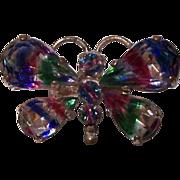Old Iris Rainbow Butterfly Brooch C-Clasp