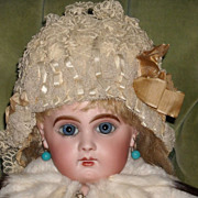 Amazing Antique French Lace Doll Bonnet