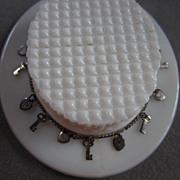 Sterling Silver Hearts & Keys Vintage Bracelet Got the Key to My Heart?   925