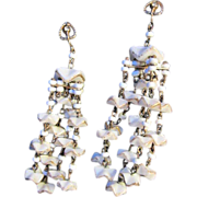 Castlecliff Chandelier Earrings Poured Glass Runway Couture