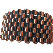 Renoir Copper Woven Cuff Bracelet Book Piece