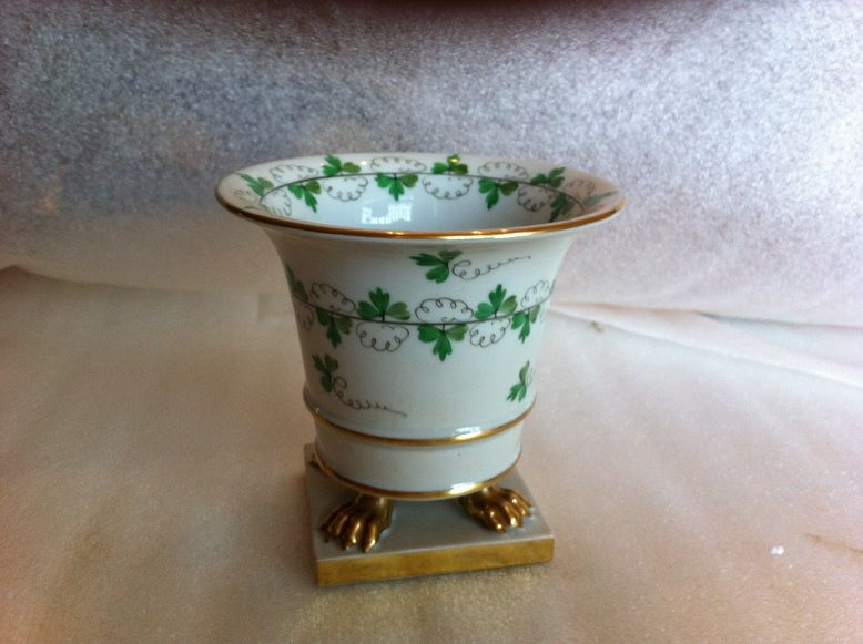 Herend vintage golden footed vase