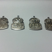 Pre-WW2 Sterling ARP Air Raid Precautions Wardens LAPEL BADGE