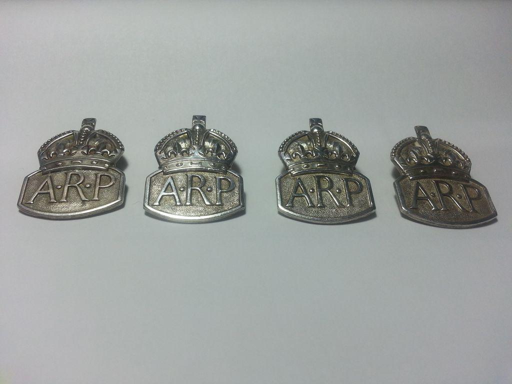 Pre-WW2 Sterling ARP Air Raid Precautions Wardens LAPEL BADGE