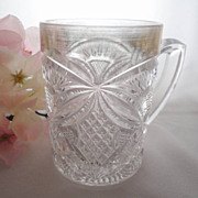 EAPG Mug Pattee Cross U.S. Glass 15112, 1909
