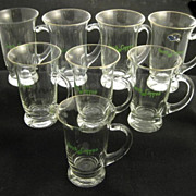 Lot of 8 West Virginia Specialty Hand Made Irish Coffee Mugs