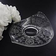 Heisey FERN Tidbit Bonbon Lotus Bridal Bouquet Etch