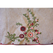 French Hand Embroidery Panel