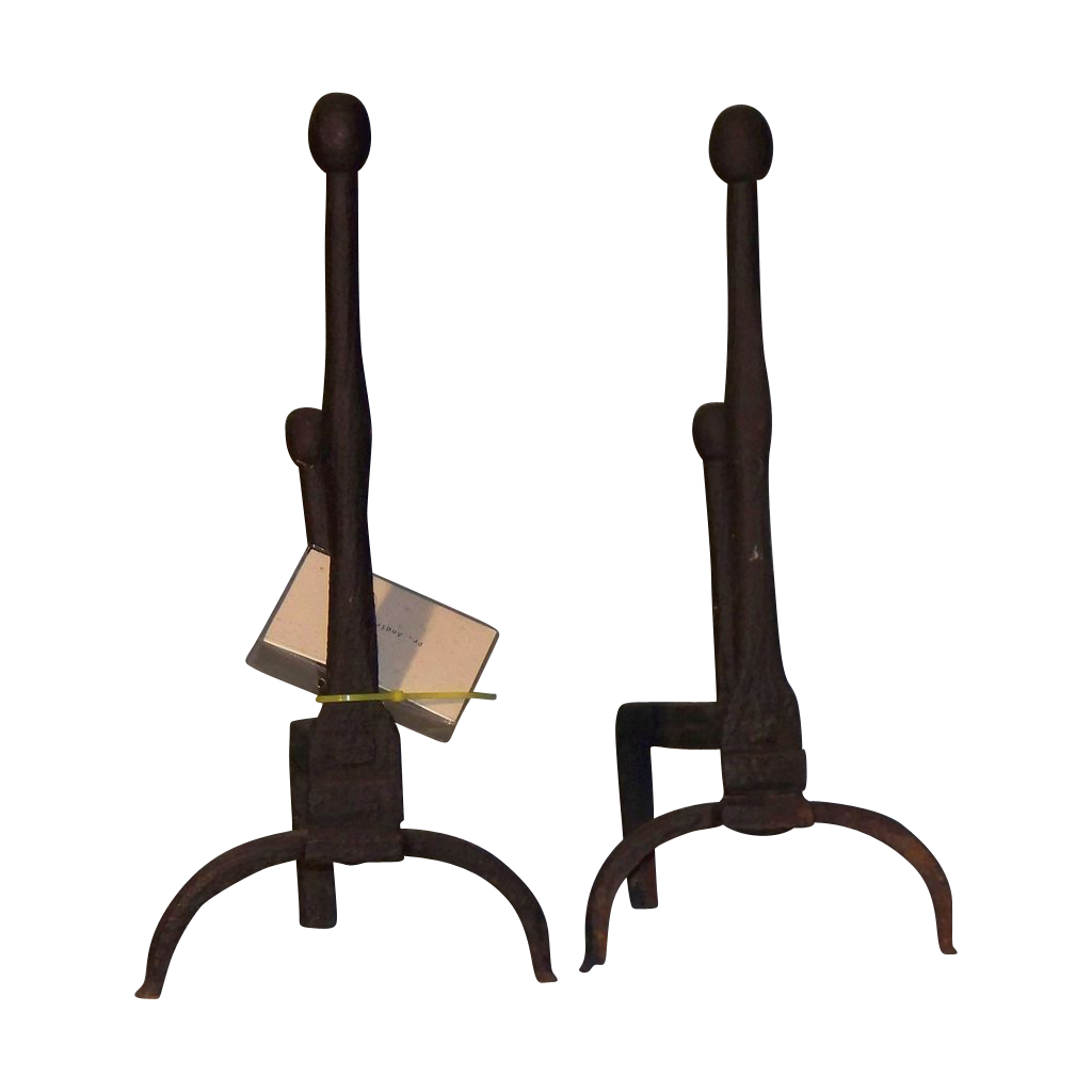 A pair of early Andirons