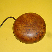 Burl Button with original Fastening Device