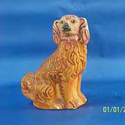 Very fine Chalkware Dog Bank with natural colors