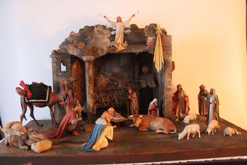 Carved Wood Nativity Set by a Master German Carver