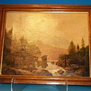"Oil on Canvas ""Mountain Stream"""