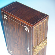 Rosewood  Box with Journals & Bone Inlay