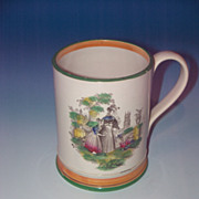 Staffordshire Handled Mug with Frog Interior