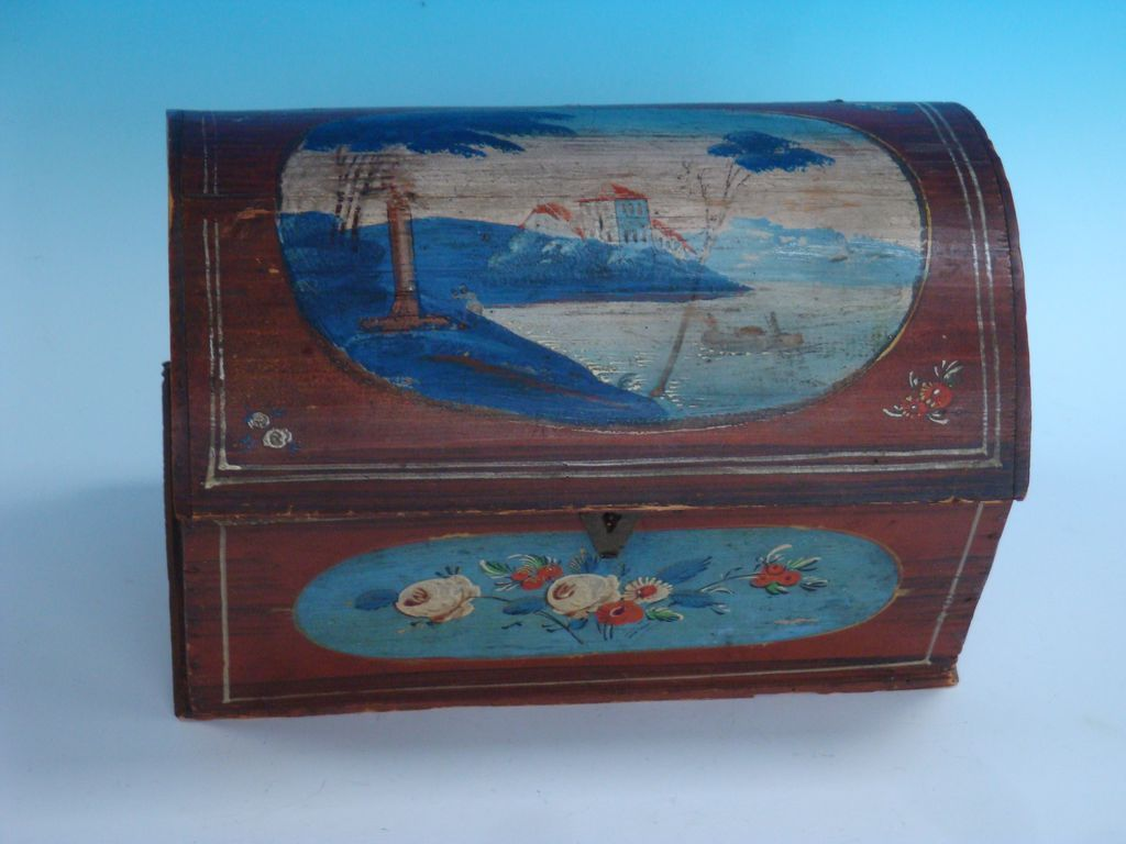 Miniature Dome lid Decorated Chest