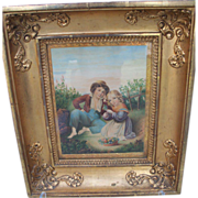 Framed Watercolour by Abraham Burman