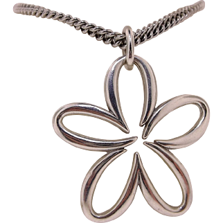 "James Avery Sterling Silver Flower ""Flowing Petals"" Necklace"