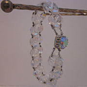 Beautiful Crystal Aurora Borealis Beaded Bracelet