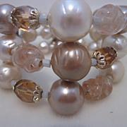 "Vintage 50""s Beaded Coil Flex Bracelet"