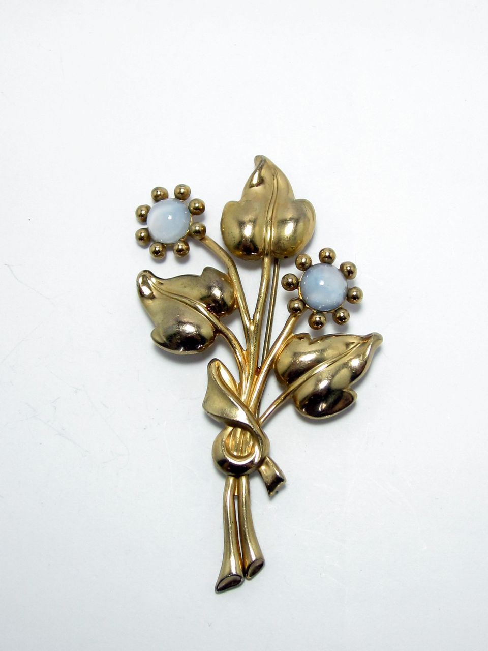 Vintage Coro Bouquet Of Flowers Brooch
