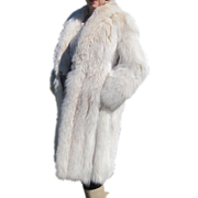 Stunning Blond Fox Fur Full Length Coat