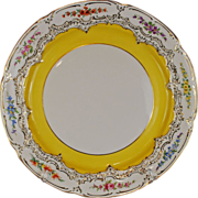 Vintage Meissen Yellow Plate Large