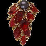Gilbert Albert 18K gold meteorite diamond Tahitian Pearl Pendant