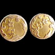 French art nouveau 18k gold fill cufflinks