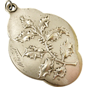 French art nouveau holly slide mirror locket