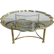 Labarge cast brass and glass coffee/cocktail table - c.1950