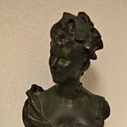Very Nice French Victorian Art Nouveau Terracotta Maiden Bust C. 1880-1900