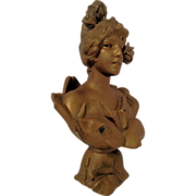 Fine Antique French Art Nouveau Bust of WATER NYMPH by E Villanis C 1880-1910