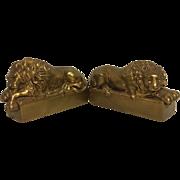 Exquisite Vintage Set of Antonio Canova Lion Bookends