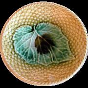 Old 1880's Majolica Berry Bowl