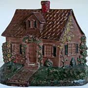 1930's Hubley Cast Iron  Cottage Doorstop #211
