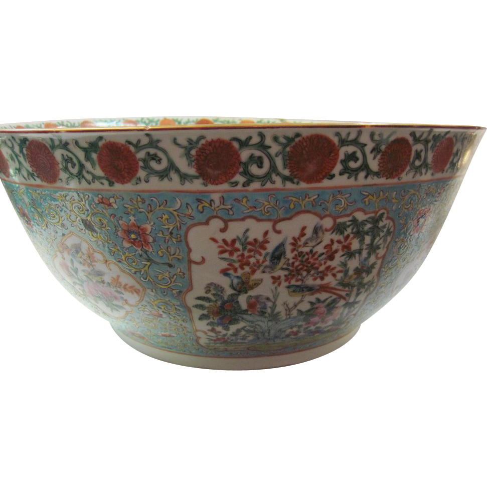 Chinese Export Punch Bowl