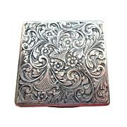 Silver Engraved Square Case circa 1920s